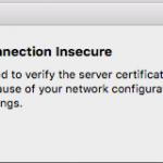 connection insecure