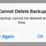 Cannot delete iCloud backup