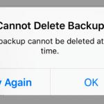 iCloud: Cannot Delete Backup, Fix