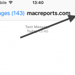text message details option