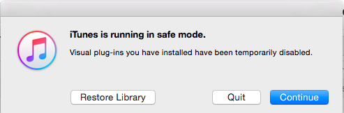 iTunes Safe Mode
