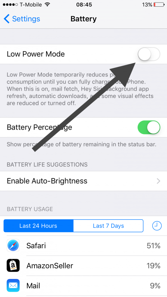 Low Battery Mode