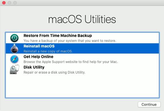 macOS Reinstall