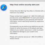 Critical Security Warning! Your Mac is Infected…Fix