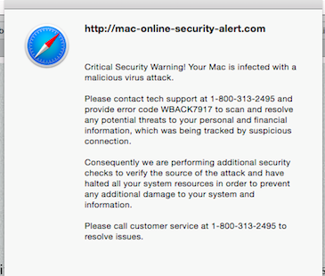 Critical Security Warning! Your Mac is Infected   Fix