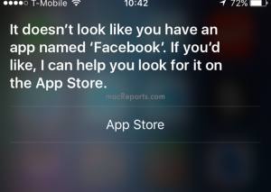 Siri not opening apps