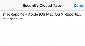 recently closed iphone tabs