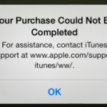 Your Purchase Could Not Be Completed, Fix