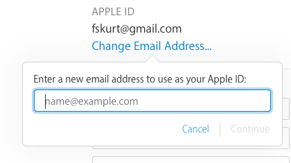 enter a new email