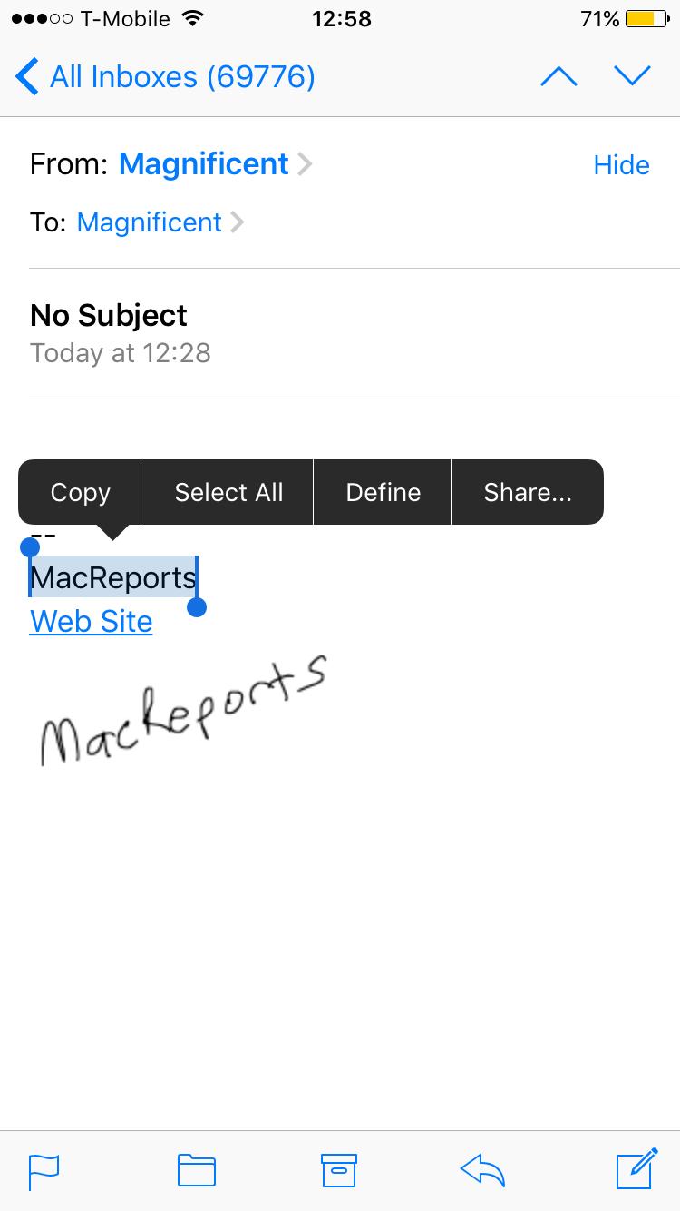 How to customize your email signature ipad or iphone macreports copy your signature buycottarizona