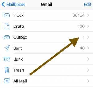 Outbox stuck email remove
