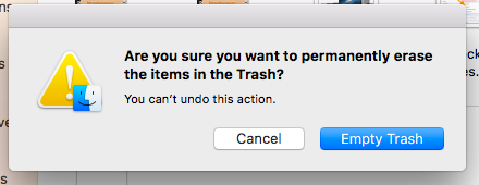 empty your trash on your Mac