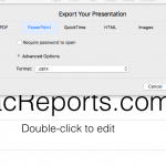 export your keynote file as powerpoint