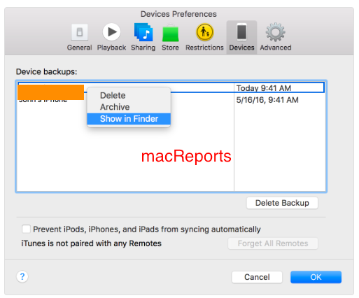 remove old icloud backups from your Mac