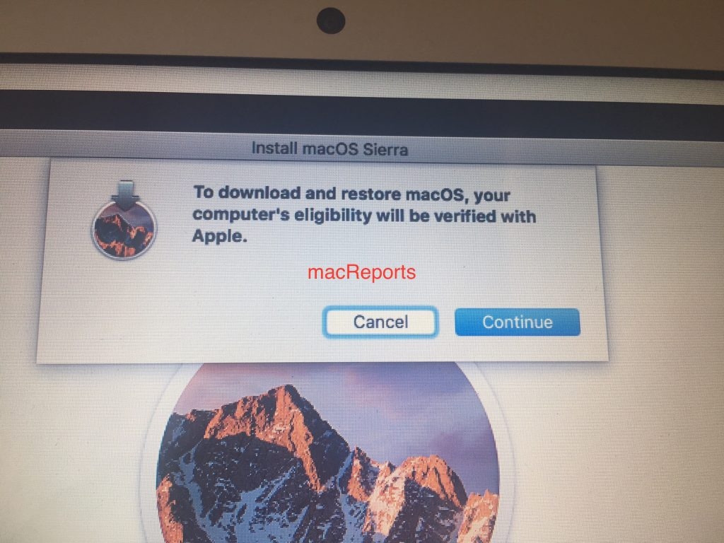 mac OS install verification