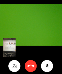 facetime green screen problem