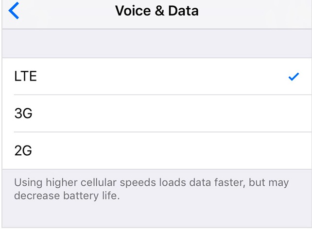 Turn 4G or LTE Off On iPhone - macReports