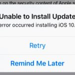 iOS: Unable to Install Update: An error Occurred Installing…