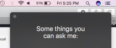 Siri Open on Mac