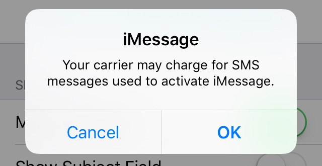 imessage says waiting for activation iphone xs