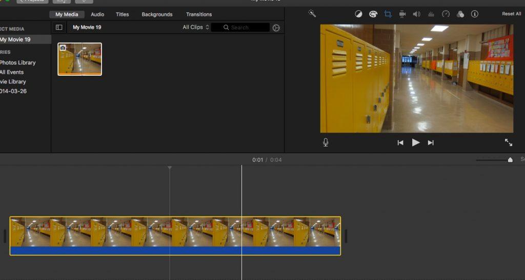 iMovie Select Image