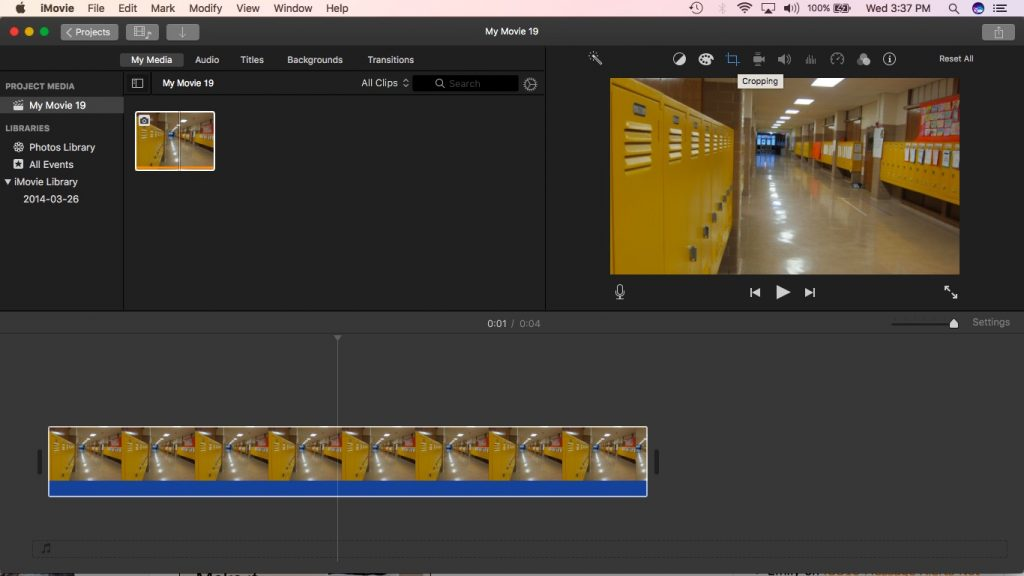 iMovie cropping