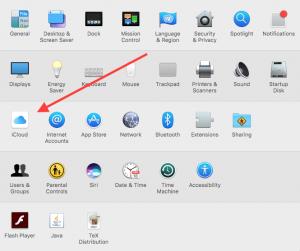 Mac iCloud storage check