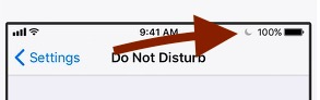 Do Not Disturb is turned on