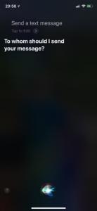 Siri send text