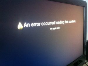 Apple TV content playing error