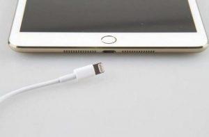 iPad charging port