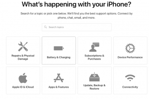 Apple Support options