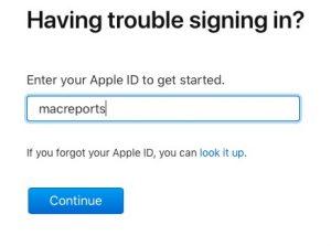 Apple ID forgot?