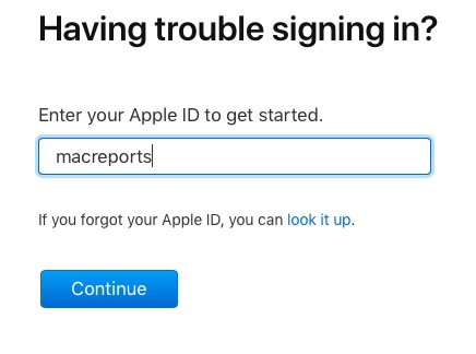 reset apple id password with email address