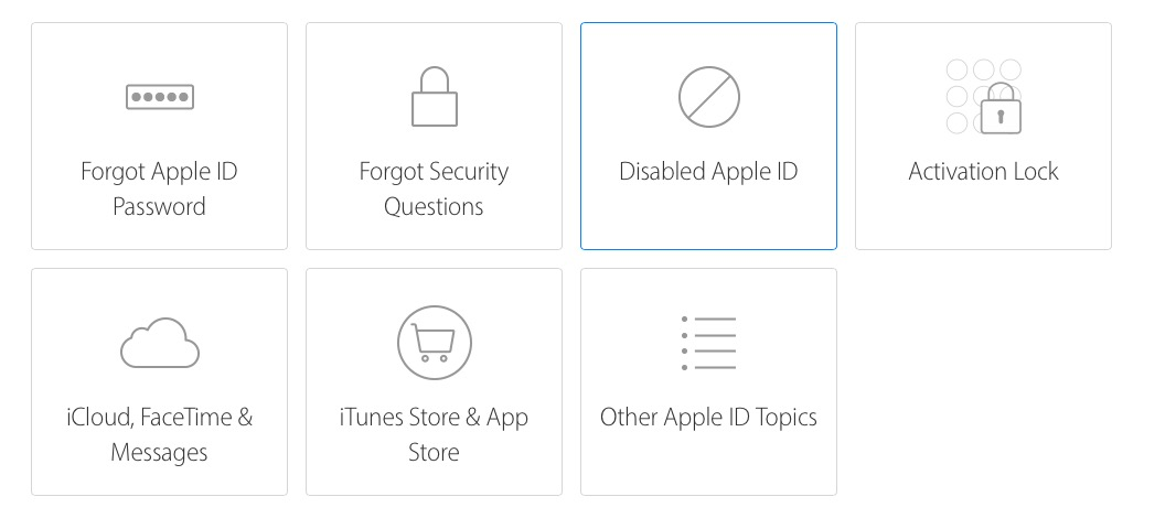 cannot reset apple id password