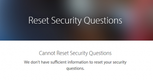 Apple ID reset