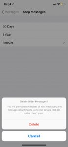 delete older messages