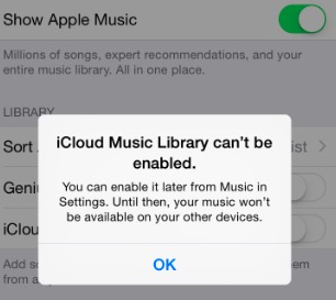 Can't Turn On iCloud Music Library? Fix - macReports