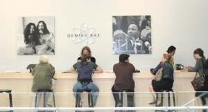 The Genius Bar at an Apple Store