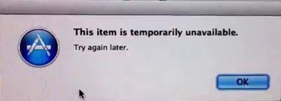 Mac This Item Is Temporarily Unavailable Please Try Again Later