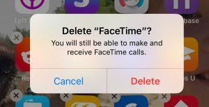 Delete FaceTime