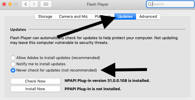 How To Disable Update Adobe Flash Player Notifications