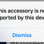 This accessory is not supported
