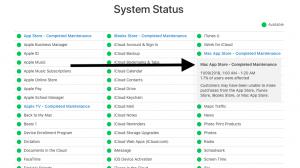 Mac App Store Status