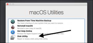 macOS utilities disk utility