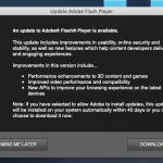 Adobe Update popup