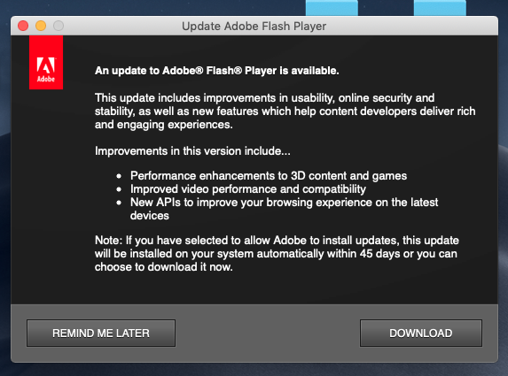 adobe flash player mac 10.4.11
