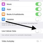 turn off updates over cellular data