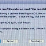 macOS installation could not be completed