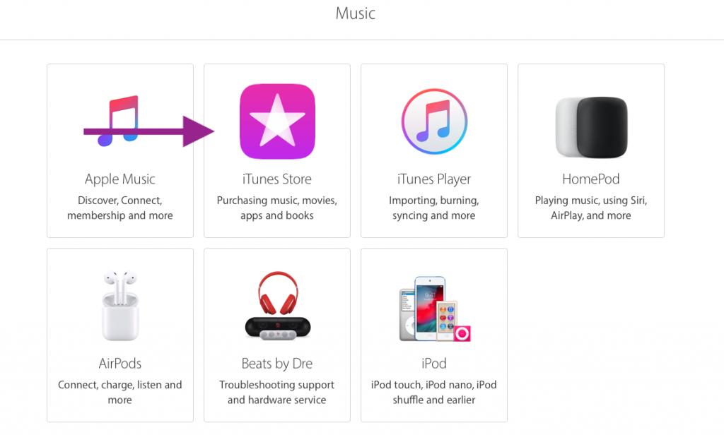 iTunes help